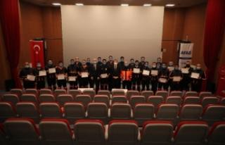 Sivil Savunma Personelleri Arama Kurtarma Sertifikalarını...