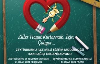 Zeytinburnu İlçe Milli Eğitim ve Kızılay Kan Bağışına Davet Ediyor