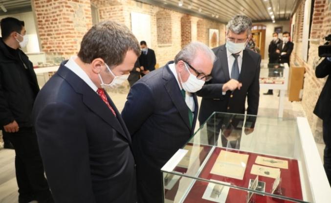 TBMM Başkanı Şentop'tan 'Ebüzziya Ailesi' Sergisi'ne Ziyaret