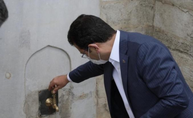 İmamoğlu Kazlıçeşmeyi Zeytinburnu Belediyesi Restore Etti Suyunu Biz Verdik