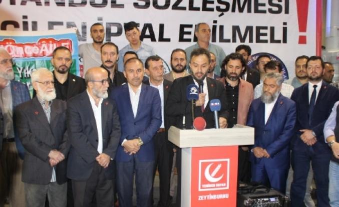 Zeytinburnu Yeniden Refah Partisi : İstanbul Sözleşmesi Acilen İptal Edilsin